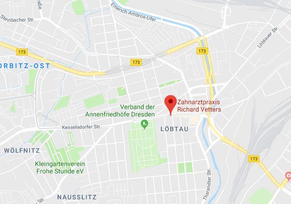 Anfahrt Zahnarztpraxis Richard Vetters Zahnarzt Dresden Löbtau